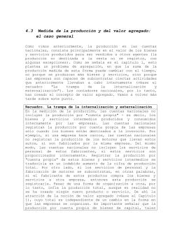 Medida de la producción y del valor agregado: el caso general