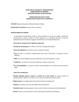 Instructivo Formulario Múltiple de Pago