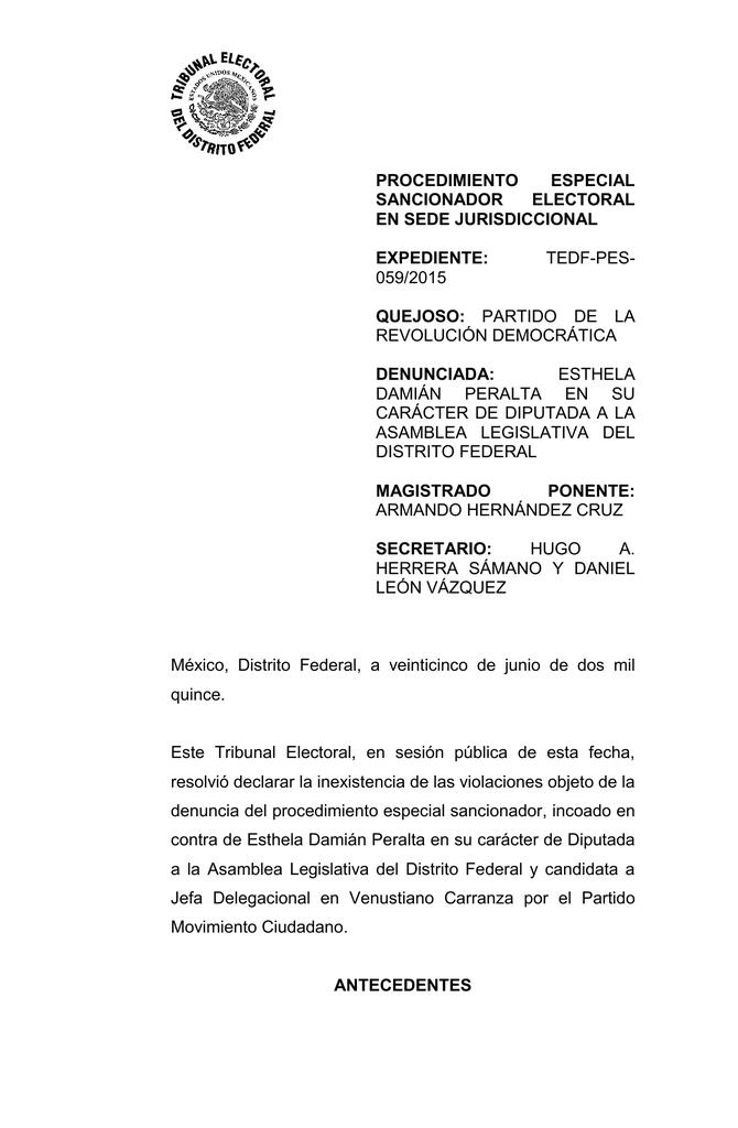 Procedimiento Especial Sancionador Electoral