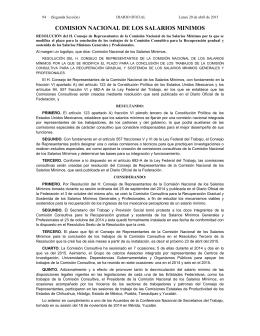 Lunes 20 de abril de 2015 DIARIO OFICIAL (Segunda Sección) 1