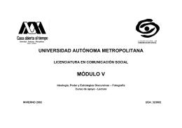 Lectura - Universidad Autónoma Metropolitana