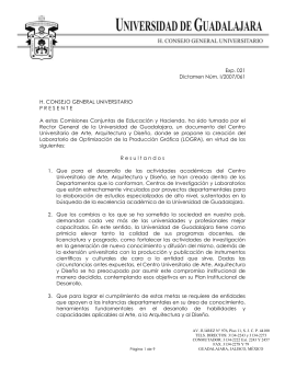 R esultandos - Consejo General Universitario