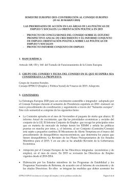 EPSSCO EPS 03 Acciones en el campo del empleo y de las