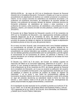V. Normas de adjudicación - Intersindical Valenciana