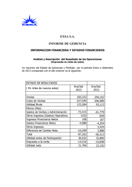 informacion financiera y estados financieros