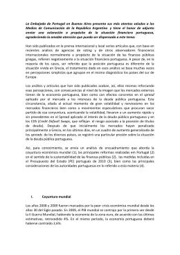 La Embajada de Portugal en Buenos Aires presenta sus más