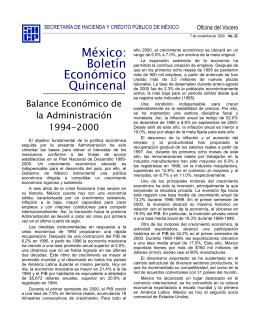 Balance Económico de la Administración 1994-2000