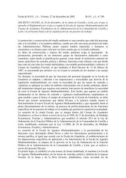 Decreto 136/2002 - Junta de Castilla y León