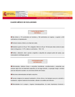 Exclusiones medicas Guardia Civil (formato )