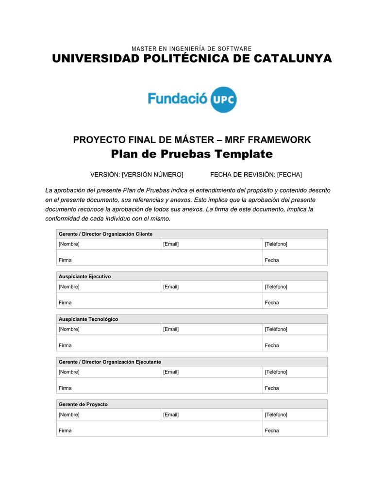 Plan de Pruebas - Plantilla