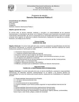 Programa de estudio Derecho Internacional Público II