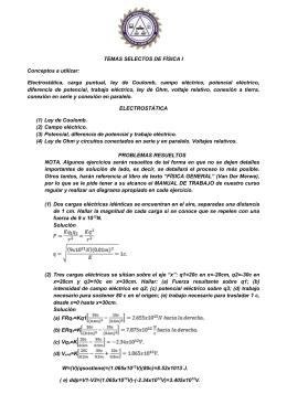 TEMAS SELECTOS DE FÍSICA I Junio - Prepa 20-30