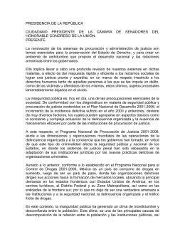 PRESIDENCIA DE LA REPÚBLlCA