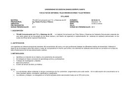 UNIVERSIDAD DE ESPECIALIDADES ESPÍRITU SANTO  FACULTAD DE SISTEMAS, TELECOMUNICACIONES Y ELECTRÓNICA SYLLABUS