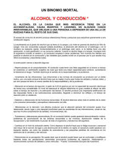 ALCOHOL Y CONDUCCIÓN * UN BINOMIO MORTAL