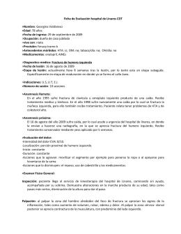 Ficha de Evaluación hospital de Linares CDT >Nombre >Edad >Fecha de ingreso: