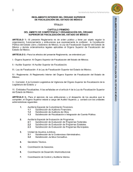 reglamento interior del órgano superior de fiscalización del estado