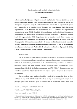 Funcionamiento de la facultad resolutoria implÃcita