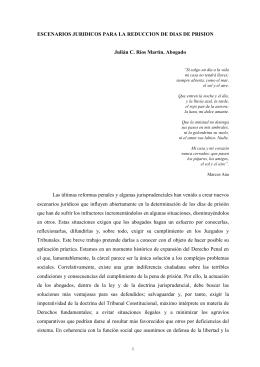 INCIDENCIA DE LA REFORMA DEL CÓDIGO PENAL DE 2003 EN