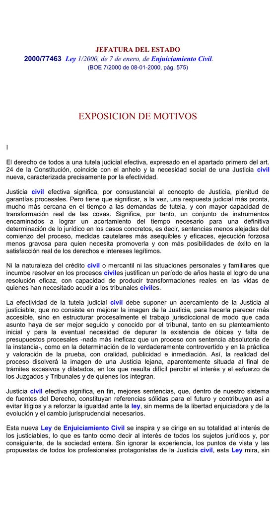 ley 1/2000, de 7 de enero , de enjuiciamiento civil