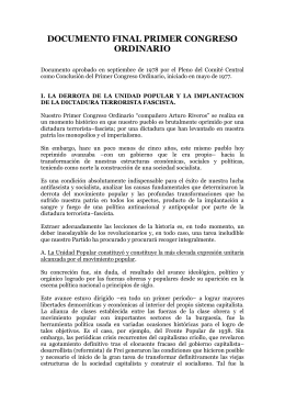documento final primer congreso ordinario