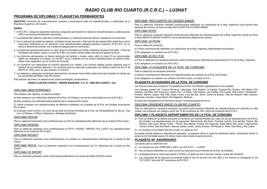 RADIO CLUB RIO CUARTO (R
