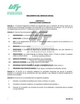 Servicio Social - Universidad Tecnológica de Tamaulipas Norte
