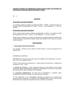 Contrato privado de compraventa de finca urbana - Cambio de pisos entre particulares ...