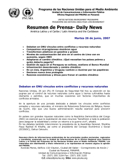 Resumen de Prensa- Daily News