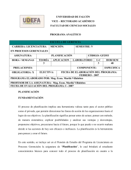 UNIVERSIDAD DE FALCÓN VICE – RECTORADO ACADÉMICO