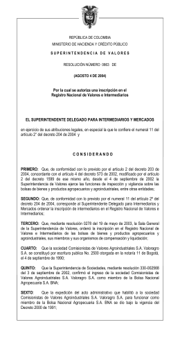 resolucion 663 de 2004/08/04 - Superintendencia Financiera de
