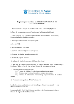 Requisitos para Inscripción y Reinscripción de