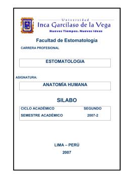 Anatomía Humana - Universidad Inca Garcilaso de la Vega