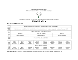 programa congreso - Universidad de Magallanes