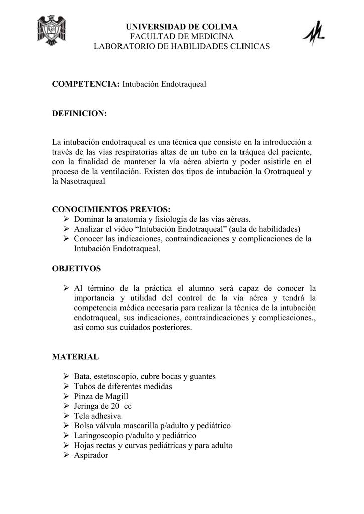 PROTOCOLO DE INTUBACION ENDOTRAQUEAL