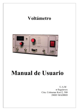 Manual de Usuario Voltámetro  U.A.M