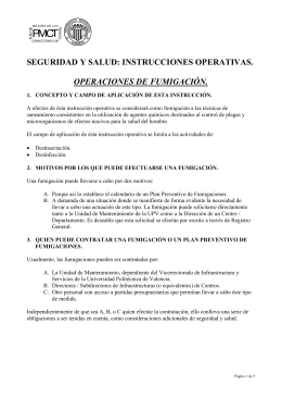 SEGURIDAD Y SALUD: INSTRUCCIONES OPERATIVAS