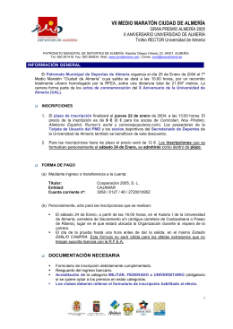 VII MEDIO MARATÓN CIUDAD DE ALMERÍA X ANIVERSARIO UNIVERSIDAD DE ALMERÍA