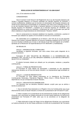 RESOLUCION DE SUPERINTENDENCIA Nº 103-2000