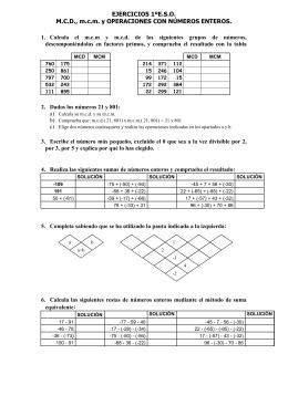 EJERCICIOS MATEMÁTICAS 1ºE