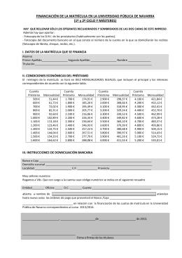 PAGO FRACCIONADO DE LA MATRÍCULA EN LA UNIVERSIDAD