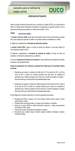 instructivo para credito icetex - Universidad Católica de Oriente
