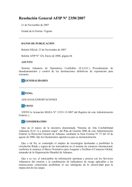 Resolución General AFIP Nº 2350/2007