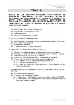 TEMA 31 - Dirección General de Tráfico