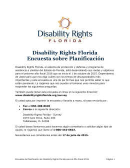 Temas de Discapacidades - Disability Rights Florida