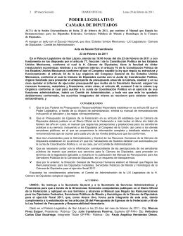 28-02-2011 - Cámara de Diputados