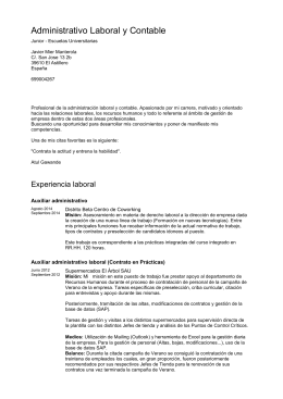 CV MS-Word - Administrativo Laboral y Contable