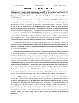 INSTITUTO FEDERAL ELECTORAL - Diario Oficial de la Federación