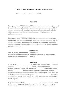 Contrato De Arrendamiento De Vivienda Con Microcreditos