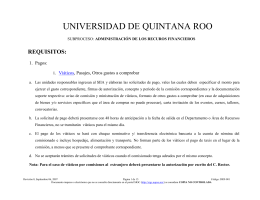 DRF-001 Requisitos - Universidad de Quintana Roo